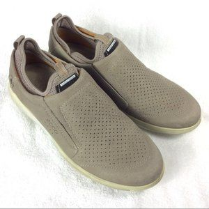 Ecco Perforated Slip-Ons 41 Nubuck Leather 7-7.5